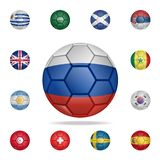 National football ball of Russia. Detailed set of national soccer balls. Premium graphic design. One of the collection icons for. Websites, web design, mobile vector illustration