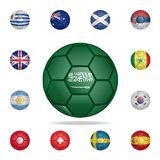 National football ball of Saudi Arabia. Detailed set of national soccer balls. Premium graphic design. One of the collection icons. For websites, web design royalty free illustration
