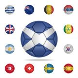 National football ball of Scotland. Detailed set of national soccer balls. Premium graphic design. One of the collection icons for. Websites, web design, mobile vector illustration