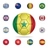 National football ball of Senegal. Detailed set of national soccer balls. Premium graphic design. One of the collection icons for. Websites, web design, mobile stock illustration