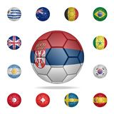 National football ball of Serbia. Detailed set of national soccer balls. Premium graphic design. One of the collection icons for. Websites, web design, mobile vector illustration
