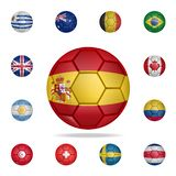 National football ball of Spain. Detailed set of national soccer balls. Premium graphic design. One of the collection icons for. Websites, web design, mobile stock illustration