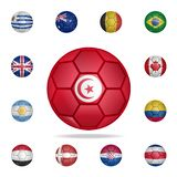 National football ball of Tunisia. Detailed set of national soccer balls. Premium graphic design. One of the collection icons for. Websites, web design, mobile royalty free illustration