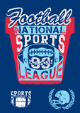 National football sports league Royalty Free Stock Images