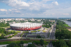 National football stadium in Warsaw, Poland. See more aerial photos in my portfolio. Landscape - horizontal orientation Royalty Free Stock Photography