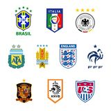 National football team emblems Stock Images