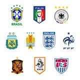 National football team emblems Stock Images