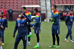 National Football Team of Romania during a training session agai Stock Photo