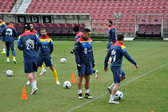 National Football Team of Romania during a training session agai Stock Photography