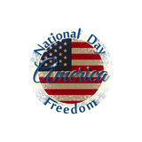 National Freedom Day America label Stock Image