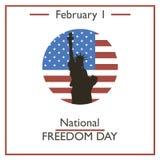 National Freedom Day. February 1 Stock Photos