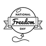 National Freedom day greeting emblem Royalty Free Stock Images