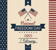 National Freedom day. Usa card or background. vector illustration Royalty Free Stock Images