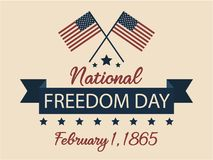 National Freedom day. Usa card or background. vector illustration Stock Image