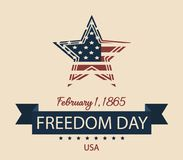 National Freedom day. Usa card or background. vector illustration Royalty Free Stock Photo