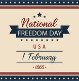 National Freedom day. Usa card or background. vector illustration Stock Images
