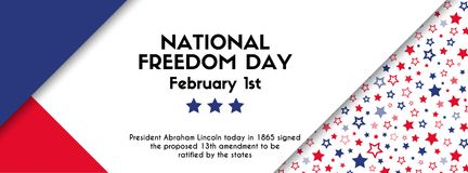 National freedom day. Vector banner. Facebook cover size stock illustration