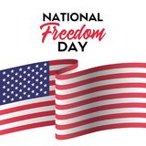 National freedom day. Vector greeting card. With flag Royalty Free Illustration