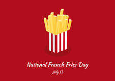 National French Fries Day vector Royalty Free Stock Photo