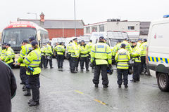 National Front Demonstration with large police presence Stock Image