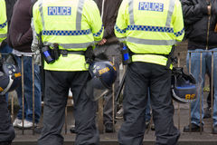 National Front Demonstration with large police presence Royalty Free Stock Image
