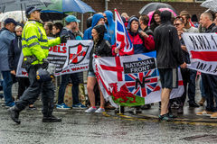 National Front demonstration in Bolton Royalty Free Stock Photos