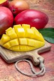 National fruit of India, Pakistan, and Philippines tropical organic ripe red mango ready to eat royalty free stock image