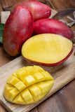 National fruit of India, Pakistan, and Philippines tropical organic ripe red mango ready to eat royalty free stock images