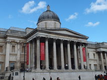 National galerry. National gallery  from trafalgar square London, England Royalty Free Stock Photography