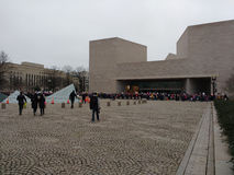 National Gallery of Art East Building, Women`s March Crowd, Washington, DC, USA Stock Photography