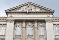 National Gallery of Art in Warsaw. Front facade of the Zacheta, National Gallery of Art in Warsaw. Poland Royalty Free Stock Photos