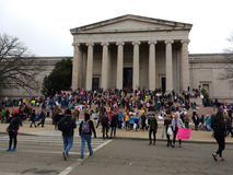National Gallery of Art West Building, Women`s March, Washington, DC, USA Stock Images