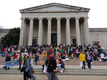 National Gallery of Art West Building, Women`s March, Washington, DC, USA Stock Image