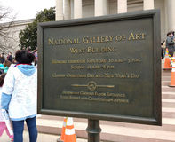 National Gallery of Art West Building, Women`s March, Washington, DC, USA Royalty Free Stock Photos