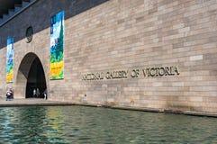 National Gallery av den Victoria ingångsdörren arkivfoton