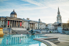 National Gallery building in London Royalty Free Stock Images