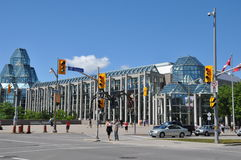 The National Gallery of Canada in Ottawa. The National Gallery of Canada, in Ottawa, is a popular tourist attraction designed by Moshe Safdie that opened in 1988 Royalty Free Stock Photo