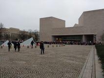 National Gallery d'Art East Building, foule du ` s mars de femmes, Washington, C.C, Etats-Unis Photographie stock
