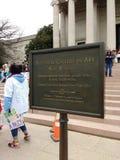 National Gallery d'Art West Building, ` s mars, Washington, C.C, Etats-Unis de femmes Photos stock