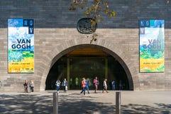 National Gallery da entrada de Victoria com a propaganda de Van Foto de Stock Royalty Free