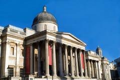 National Gallery dans le grand dos de Trafalgar Image stock