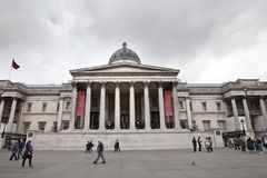 National Gallery, das in London aufbaut Lizenzfreies Stockfoto
