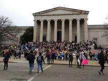 National Gallery de Art West Building, ` s março das mulheres, Washington, C.C., EUA Imagens de Stock
