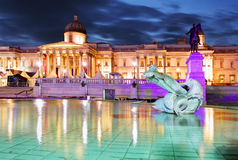 National Gallery del arte, Trafalgar Square, Londres Fotografía de archivo
