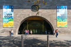National Gallery dell'entrata di Victoria con le insegne della pubblicità Immagini Stock