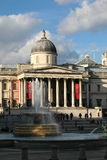 National Gallery der Kunst, Trafalgar-Platz, London Lizenzfreies Stockfoto