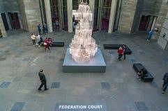 National Gallery do interior de Victoria Federation Court imagem de stock