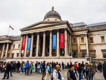 National Gallery en Londres (hdr) foto de archivo libre de regalías
