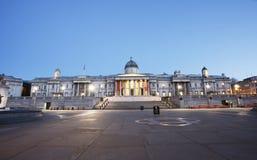 National Gallery en Vierkant Trafalgar Stock Foto