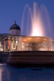 National Gallery et fontaine image libre de droits